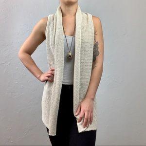 Cabi cream knit cardigan vest sz Small
